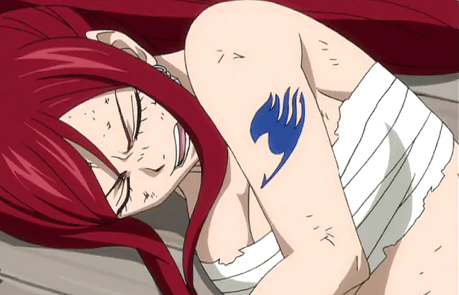 Hunger Games Anime Edition erza passed out.png
