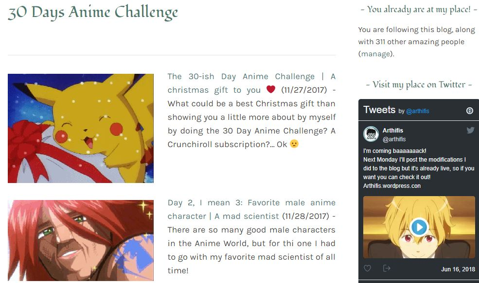 blog update Arthifis 30 day anime challenge page.JPG