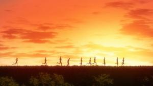 Kaze ga Tsuyoku Fuiteiru Run in the sunset