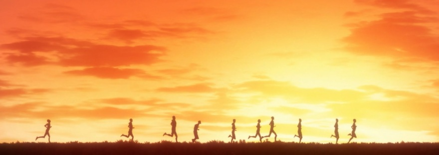Kaze ga Tsuyoku Fuiteiru Run in the sunset